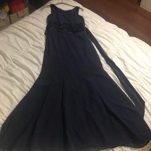 Navy blue David's bridal bridesmaid dress!!!